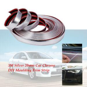 20MMx3M Moulding Trim Car Chrome DIY Strip For Grille Window Door Bumper Durable