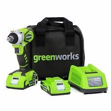 GreenWorks 3800302 G-24 24V Impact Wrench, Includes Battery & Charger