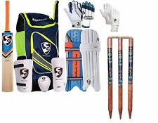 Sg Full Cricket Kit with Bag and with Wooden Cricket Stumps with2 Bails