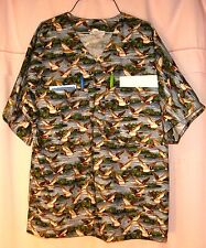 Duck Flight over Water Scrubs Top 4 Pockets (2 in BACK) Mens size Small FSMTP13