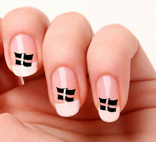 20 Nail Art Decals Transfers Stickers #597 - St Piran's Cornwall Flag