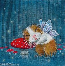 Ltd Ed conejillo de Indias De Hadas Glow gusanos imprimir desde Pintura Original Suzanne le Buena