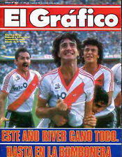 RIVER PLATE Vs BOCA JUNIORS Rare Magazine Argentina 1986