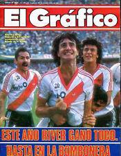 RIVER PLATE Vs BOCA JUNIORS Rare Magazine Argentina 1986