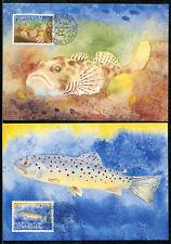 Liechtenstein Maxi Cards Marine Life Fish. x1363