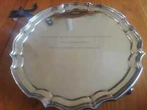 solid silver tray salver