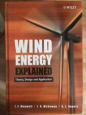 Wind Energy Explained by James Manwell