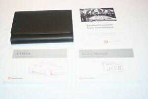 VAUXHALL CORSA   MK2 OWNERS MANUAL / AUDIO MANUAL  & WALLET,  2000-2006