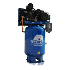 15HP Air Compressor 3 Phase 230V 120 Gallon Tank Vertical Industrial Plus