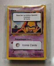 Pokemon Spanish Complete Set 38 BASE SET 1st Edition Common Cards - MINT