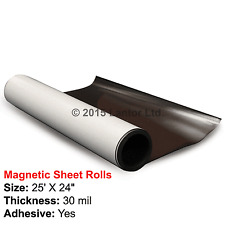 Rubber Flexible Magnetic Adhesive Sheet  25ft x 24inch 30 Mil  #MA25X24#Rubber