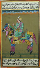 Royal King Miniature Painting Paper antique Art Horse Traditional Handmade