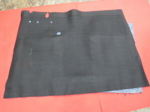 NEW 1941-48 Ford Black front floor mat w/ jute backing   4148-7013000-BLK