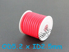 1Roll (16 ft) Pink Silicone RC Nitro Fuel Line Tubing D5.2xø2.5, US 005-00606A-B