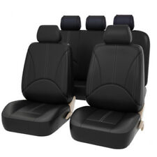 Universal 9pcs PU Leather Car Seat Cover Full Set Front Rear Seat Cushion Mat