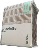 Mocha Flannelette Sheet Set 100% Pure Cotton | Thick Super Twill | Queen