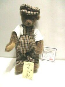 """'96 Dean's Bear """"Wilber"""" 12"""" Mohair Brown Bear Collector's Club Special L/E # 10"""