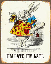 Alice In Wonderland im Late Rabbit - Vintage Art Print Poster - A1 A2 A3 A4 A5
