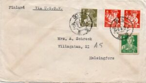 CHINA: Airmail cover via Russia to Finland.