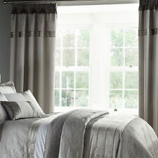 Polyester Embroidered Pencil Pleat Curtains & Pelmets