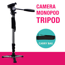 Camera Monopod Tripod Unipod Fluid Head Holder Travel DSLR Camcorder Video DV AU