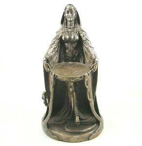 Danu Celtic Irish Mother Goddess of Abundance Bronzed Figurine Pagan Statue Gaia