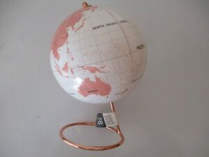 HOME & CO ROSE GOLD LOOK WORLD GLOBE