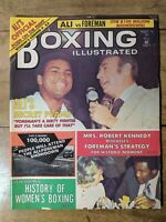 August 1974 Boxing Illustrated Magazine Muhammad Ali George Foreman HowardCosell
