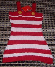 OOBI BABY GIRLS COTTON KNIT DRESS  SZ 0 - 6 MTHS NEW WITH TAGS