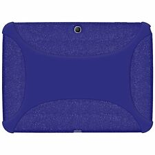 Amzer Soft Rubber Skin Fit Case Cover for Samsung Galaxy Tab 3 10.1 - Blue