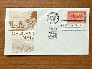 OVERLAND MAIL Origin & History - 1958 Stuart Anderson First Day of Issue MNH
