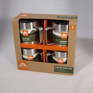 Ozark Trail 4pk 12oz Coffee Mug Set Vacum Insulated Outdoor - Set of Four *New*