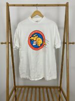 VTG 1993 1st Annual Dog Jog Double Side Graphic White T-Shirt Size XL USA