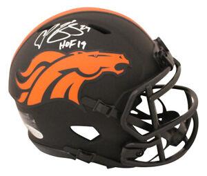 Champ Bailey Autographed Denver Broncos Eclipse Mini Helmet HOF BAS 31204