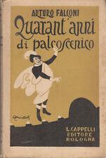 BIOGRAFIA CINEMA FALCONI ARTURO QUARANT'ANNI DI PALCOSCENICO