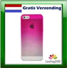 Iphone 5 cover regendruppels - Roze