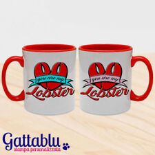 Set 2 tazze di coppia You are my Lobster, How I Met Your Mother inspired rosse