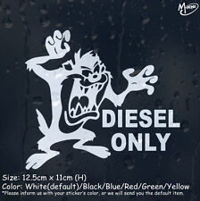 Diesel Only Car  Sticker Funny Reflective Cartoon Taz Decal For Bumper Panel