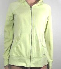 VICTORIA'S SECRET Yellow Sequin Back Hooded zip up top Sz S