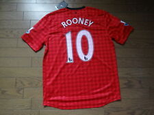 Manchester United #10 Rooney 100% Original Jersey Shirt 2012/13 L Still BNWT