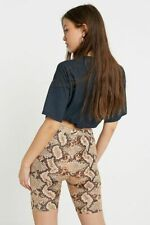 Urban Outfitters Sequin Snake Skin Print Cycling Shorts RRP £24 Size Small BNWT