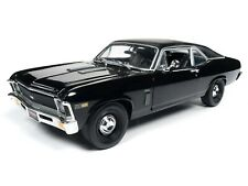 2019 1:18 AUTO WORLD AMERICAN MUSCLE *BLACK* 1969 Chevrolet YENKO NOVA NIB!