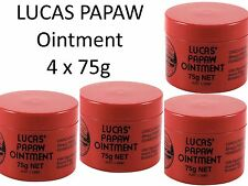 4 x 75g LUCAS PAPAW Ointment Nappy Rash Cream PAW Cracked Lip Gloss  木瓜霜75克