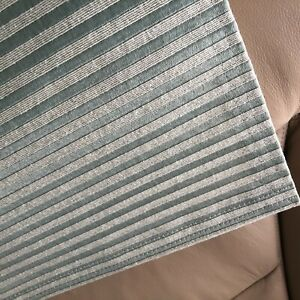 Recliner Chair Head Cover Furniture Protector Sage-Beige Stripe Size14x30 RVs Hm