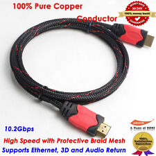 6FT HDMI 1.4 Cable Male-Male w/ Braided Protective Nylon LCD LED 3D DVD PS3 HDTV