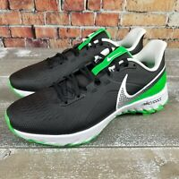 Nike React Infinity Pro Golf Shoes Black/Green Spark CT6620-001 Men's Size 8.5