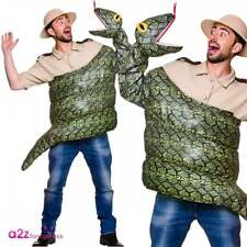 Adults Snake Fancy Dress Costume Anaconda Boa Constrictor Animal Reptile