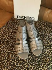 Brand New DKNY Felicia Woven Leather Wedge Sandals Sz 8 1/5 NIB Donna Karen NY
