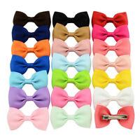 20Pcs Hair Bows Band Boutique Alligator Clip Grosgrain Ribbon For Girl Baby SM