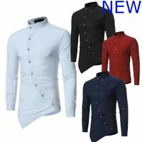 Shirt Stylish Casual Top Dress Shirts Luxury Floral Long Sleeve Mens Slim Fit